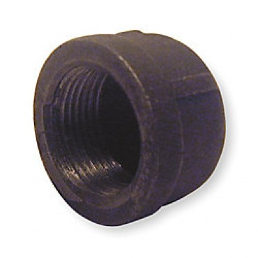 Black Iron Threaded Cap