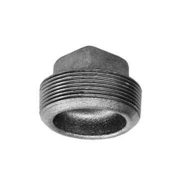 Galvanized Threaded Square Head Plug Cored