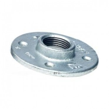Galvanized Threaded Floor Flange